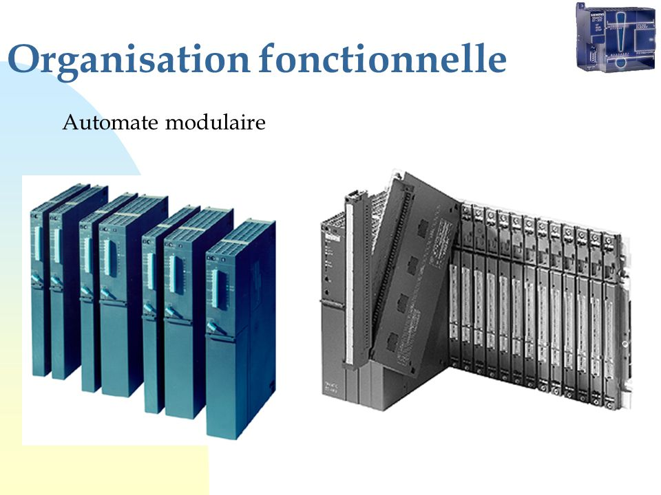 Organisation fonctionnelle Automate modulaire