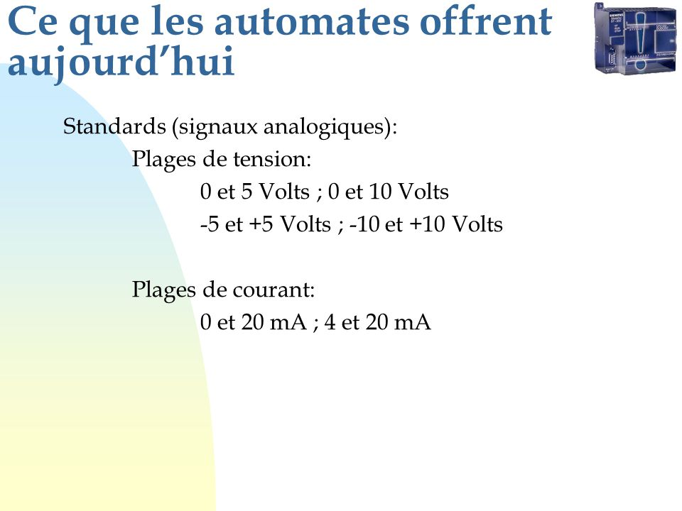 Spécifications (exemple) Nombre de points de sortie Plage de tension dutilisation Tension maximale Type de sortie Plage de fréquence (CA) Courant de charge maximal Par point Par groupe de points