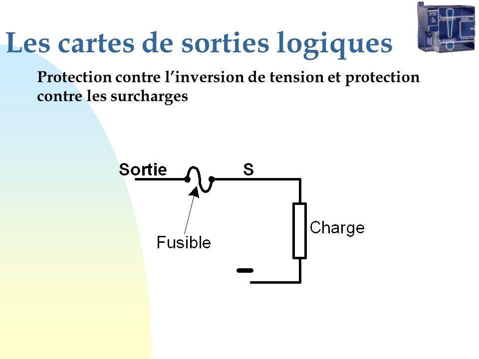 Les cartes de sorties logiques Protection contre linversion de tension et protection contre les surcharges