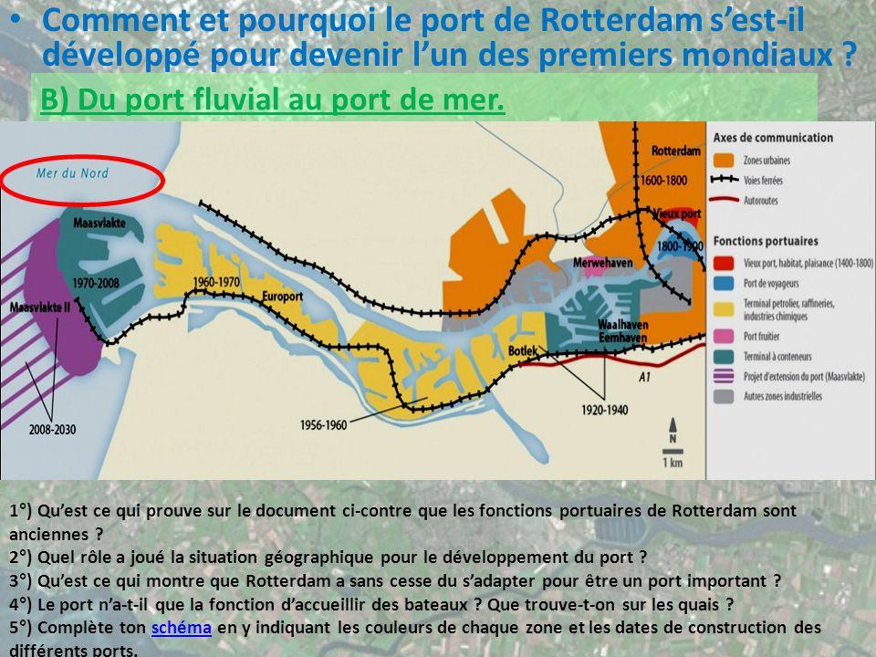 Comment et pourquoi le port de Rotterdam sest-il développé pour devenir lun des premiers mondiaux .
