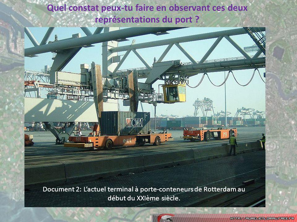 Document 2: Lactuel terminal à porte-conteneurs de Rotterdam au début du XXIème siècle.