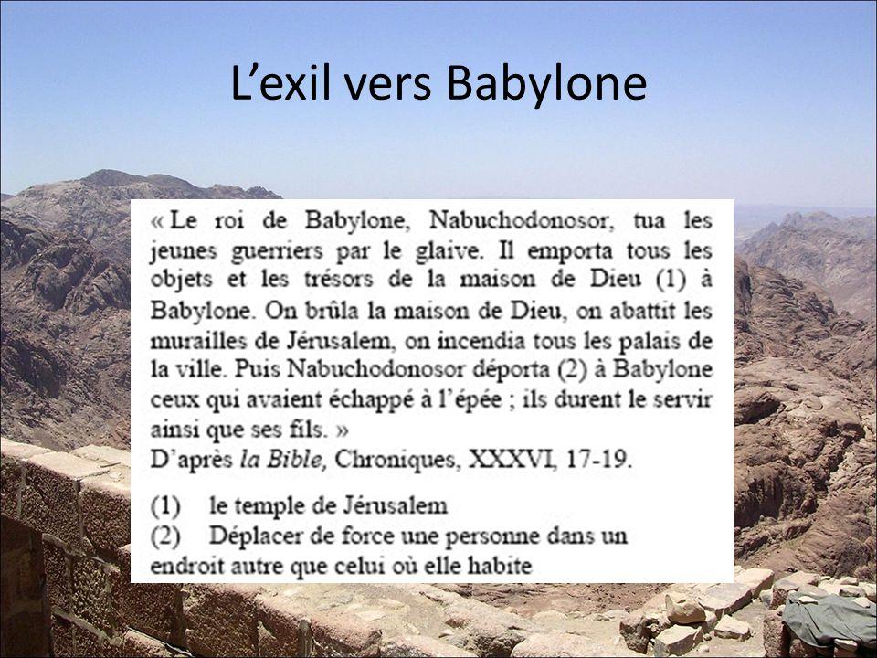 Lexil vers Babylone
