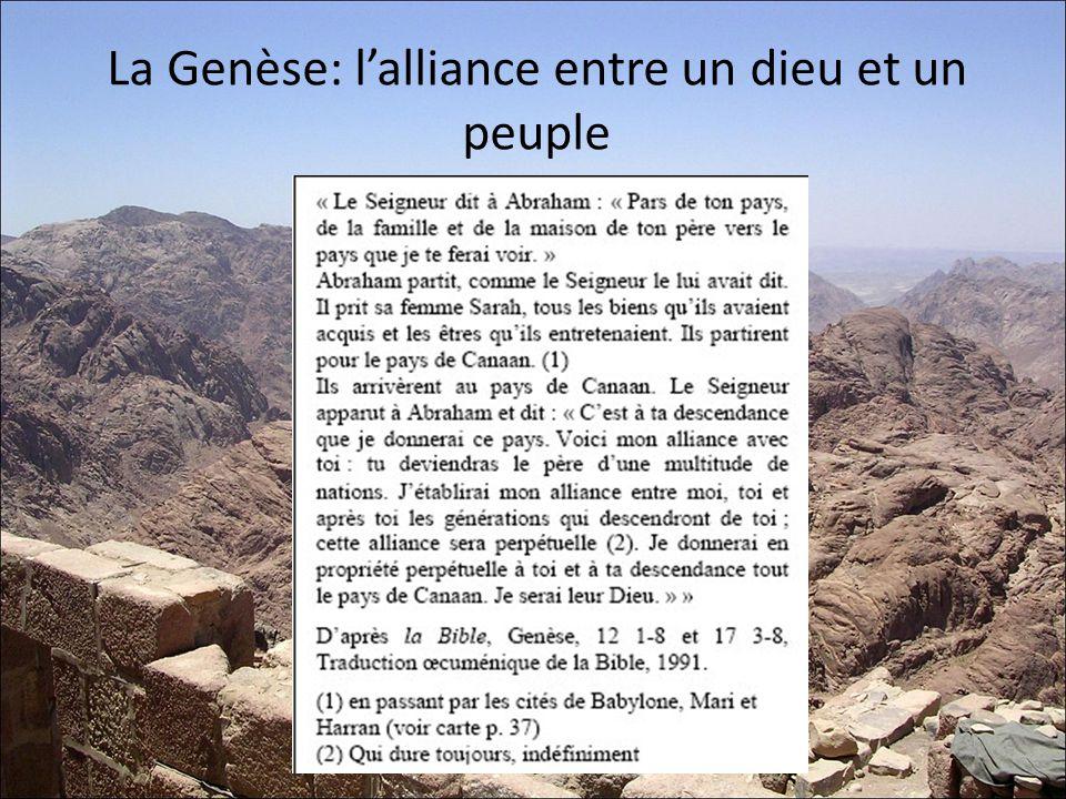 La Genèse: lalliance entre un dieu et un peuple