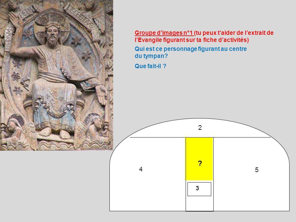 2 4 5 3 Qui est ce personnage figurant au centre du tympan.