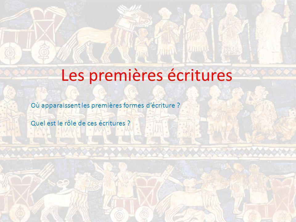 Les premières écritures Où apparaissent les premières formes décriture .