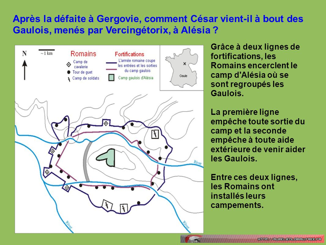 Après la défaite à Gergovie, comment César vient-il à bout des Gaulois, menés par Vercingétorix, à Alésia ? Grâce à deux lignes de fortifications, les