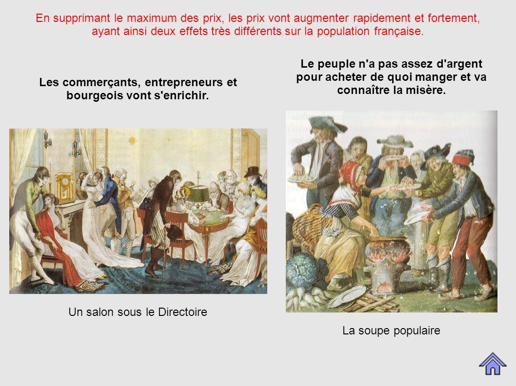 En supprimant le maximum des prix, les prix vont augmenter rapidement et fortement, ayant ainsi deux effets très différents sur la population française.