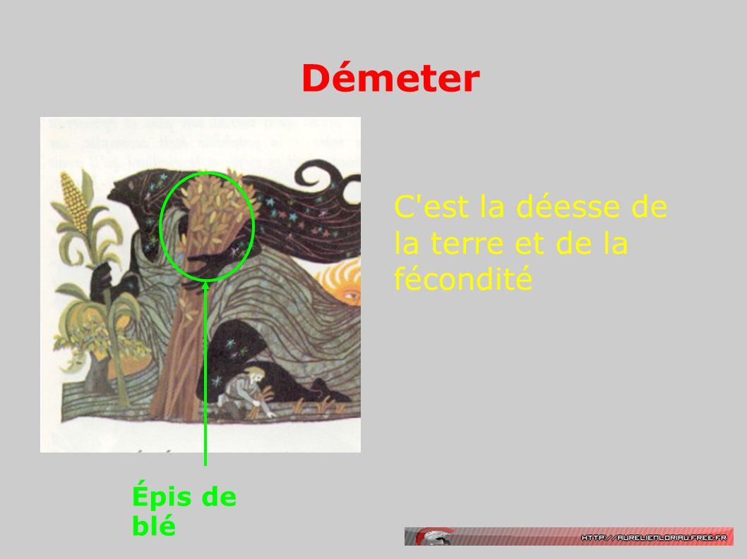 Démeter C est la déesse de la terre et de la fécondité Épis de blé