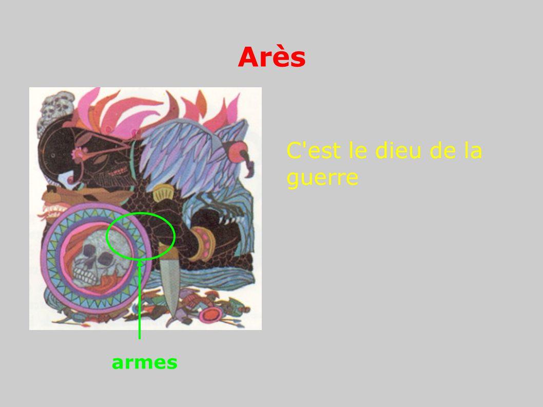 Arès C'est le dieu de la guerre armes