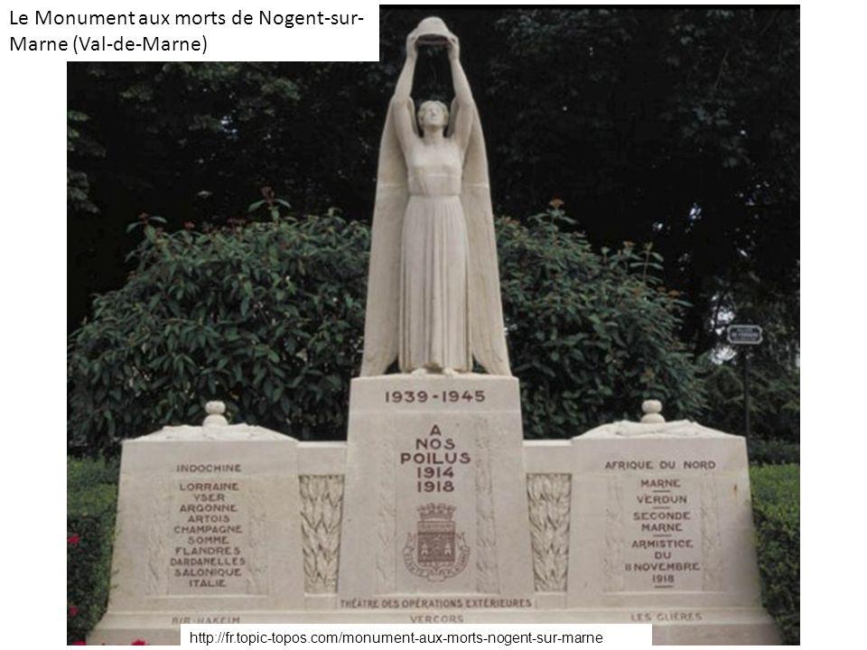Le Monument aux morts de Nogent-sur- Marne (Val-de-Marne) http://fr.topic-topos.com/monument-aux-morts-nogent-sur-marne