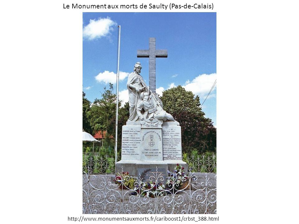 Le Monument aux morts de Saulty (Pas-de-Calais) http://www.monumentsauxmorts.fr/cariboost1/crbst_388.html