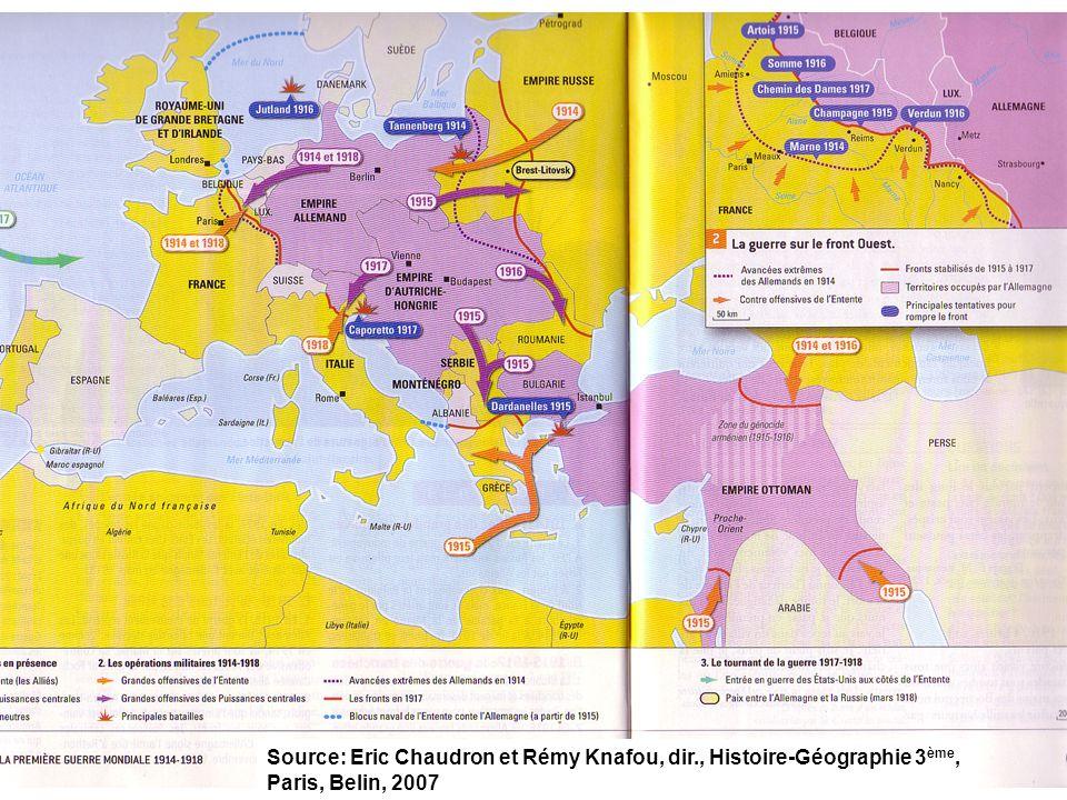 Source: Eric Chaudron et Rémy Knafou, dir., Histoire-Géographie 3 ème, Paris, Belin, 2007
