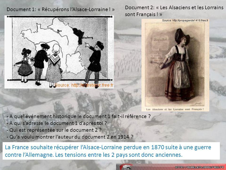 Document 2: « Les Alsaciens et les Lorrains sont Français .