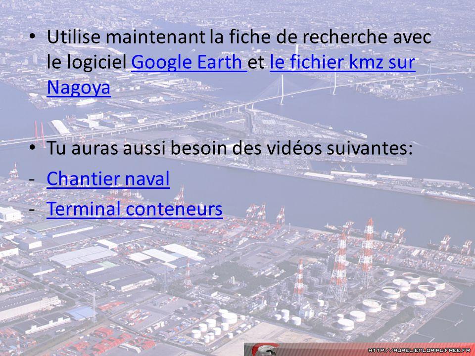Utilise maintenant la fiche de recherche avec le logiciel Google Earth et le fichier kmz sur NagoyaGoogle Earth le fichier kmz sur Nagoya Tu auras aus