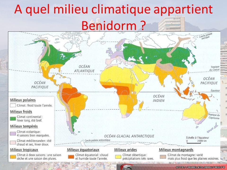 A quel milieu climatique appartient Benidorm ?