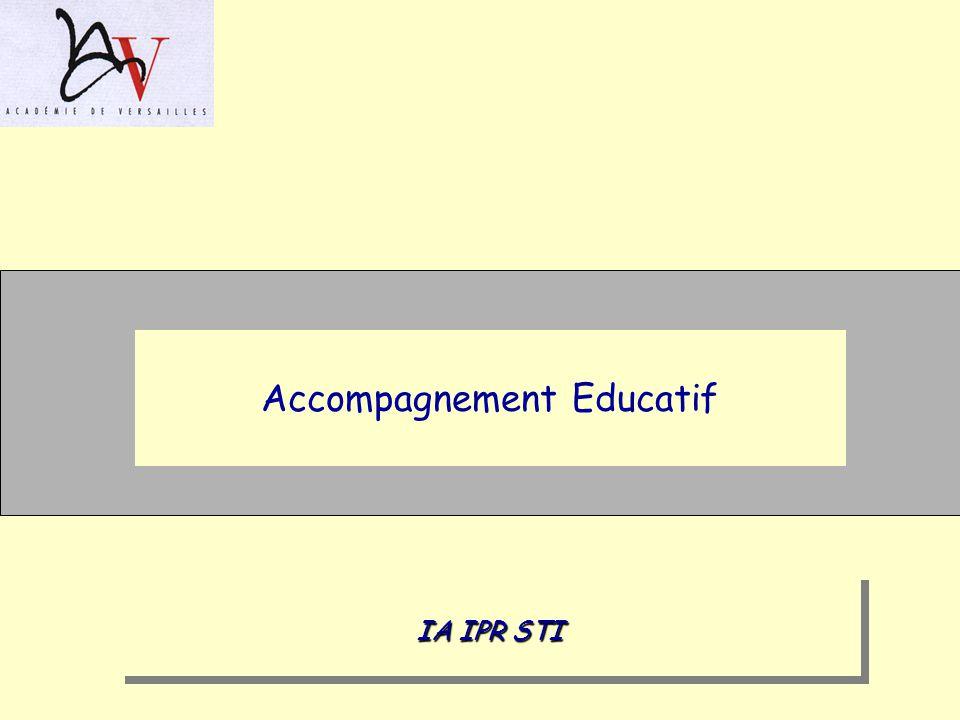 Accompagnement Educatif IA IPR STI