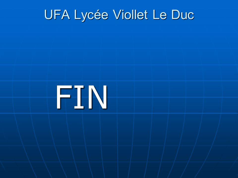 UFA Lycée Viollet Le Duc UFA Lycée Viollet Le Duc FIN