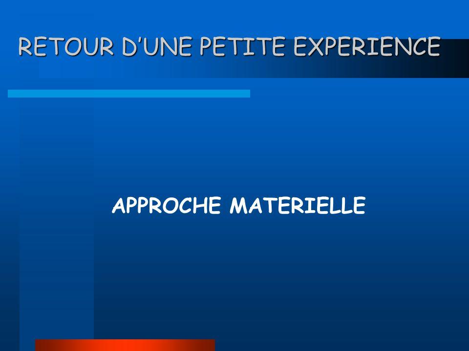 RETOUR DUNE PETITE EXPERIENCE APPROCHE MATERIELLE