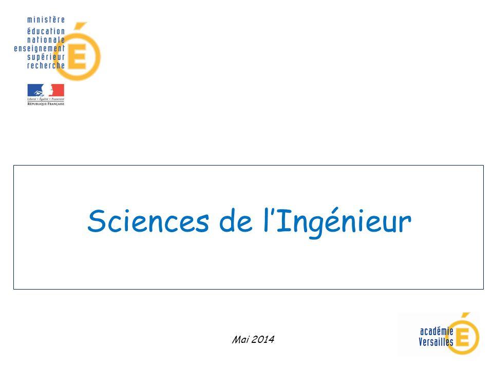 Sciences de lIngénieur Mai 2014