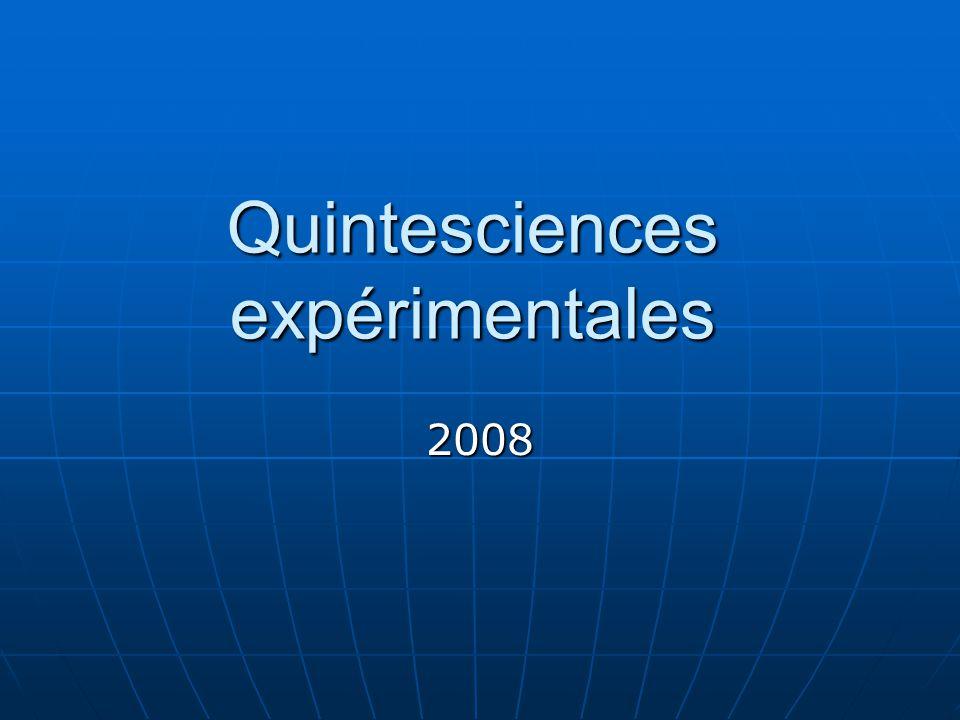Quintesciences expérimentales 2008