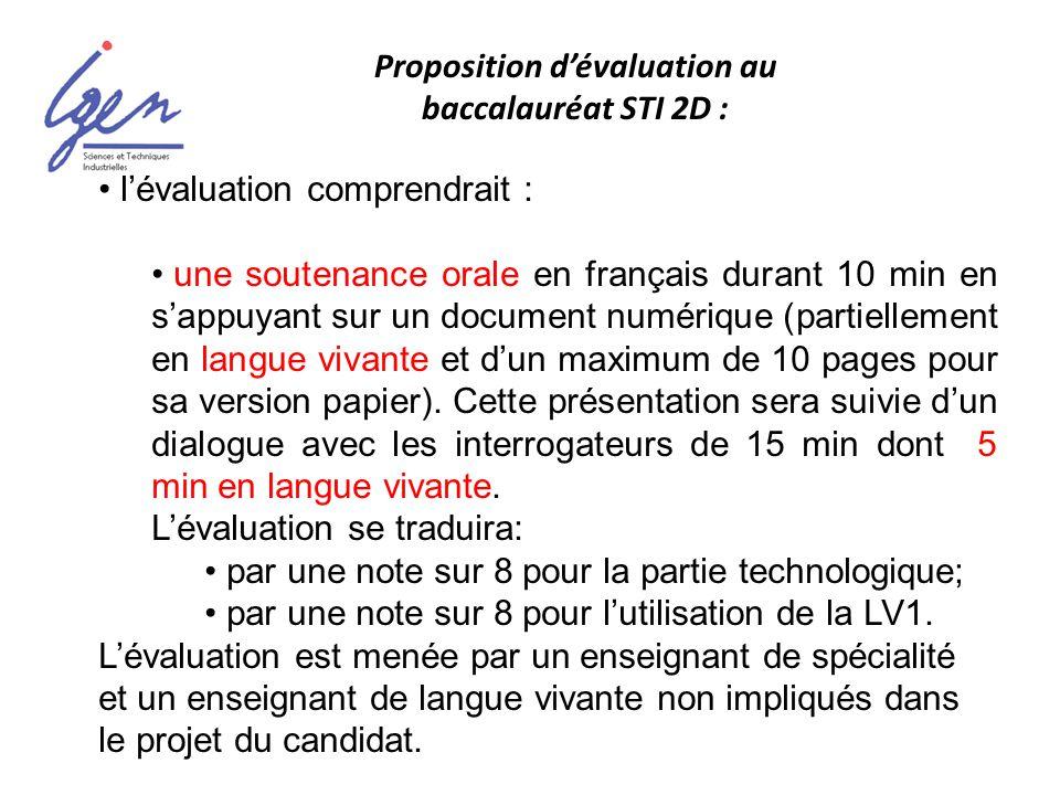 lévaluation comprendrait : une soutenance orale en français durant 10 min en sappuyant sur un document numérique (partiellement en langue vivante et d