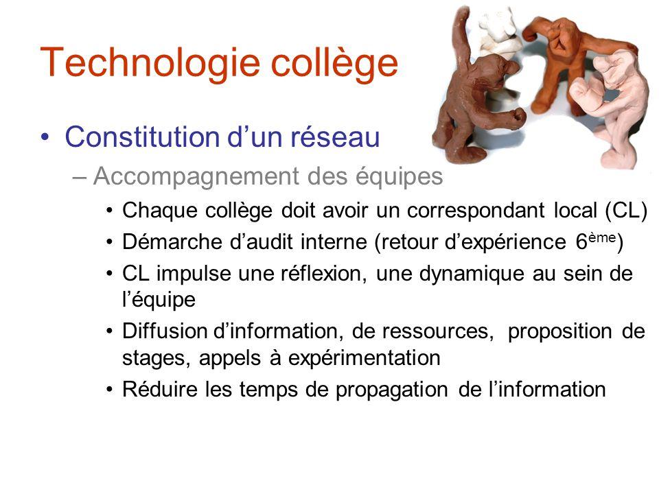 Technologie collège Audit à visée participative –Questionnaire en ligne