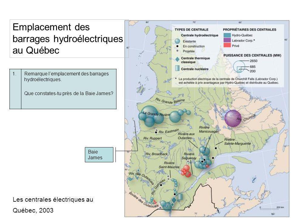 Hydrographie du Québec 2.Décris lhydrographie du Québec.