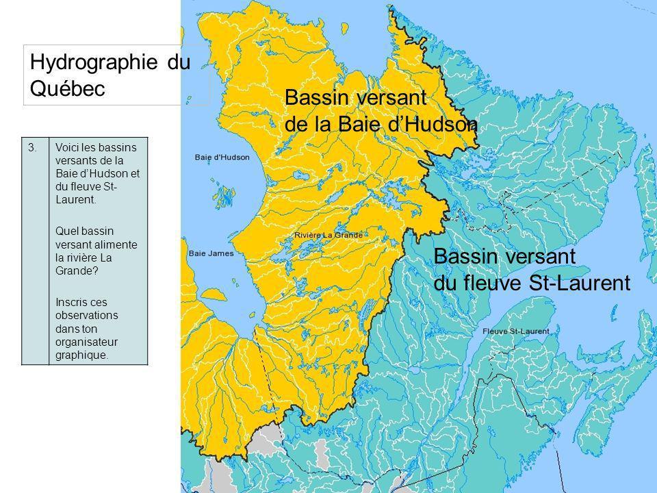4.Décris le relief du Québec en consultant la légende.