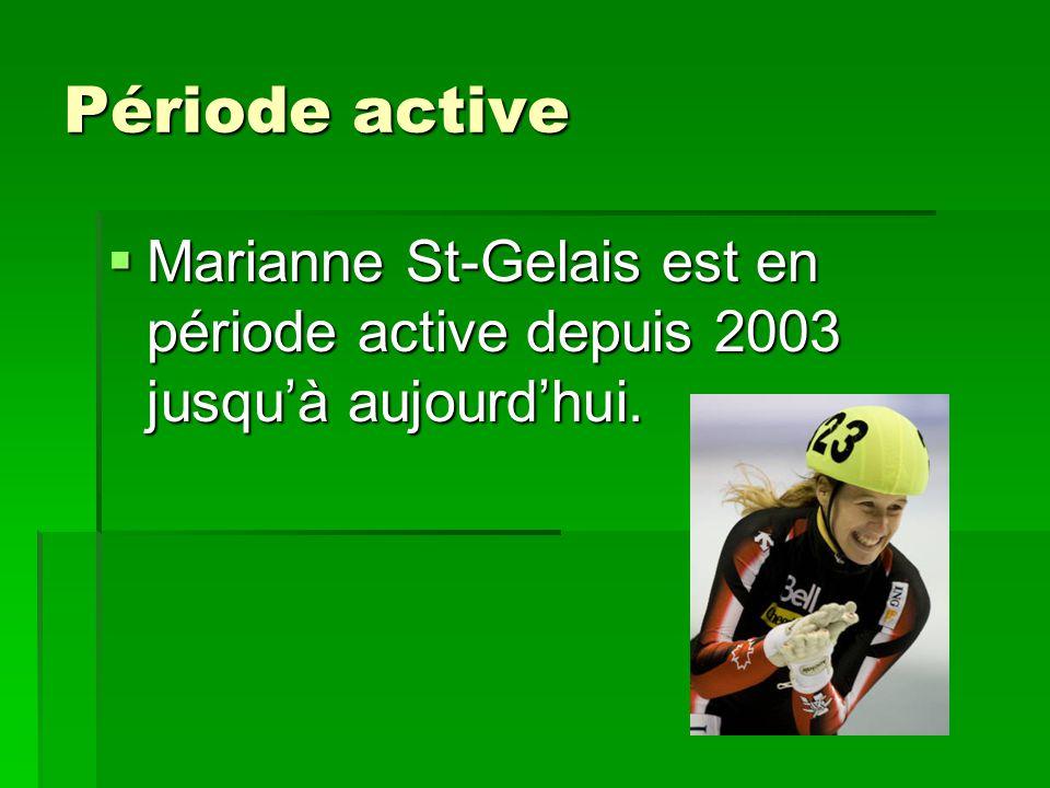 Période active Marianne St-Gelais est en période active depuis 2003 jusquà aujourdhui. Marianne St-Gelais est en période active depuis 2003 jusquà auj