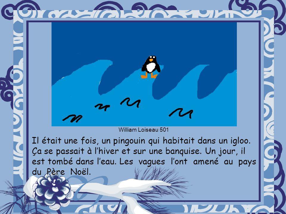 Il était une fois, un pingouin qui habitait dans un igloo.