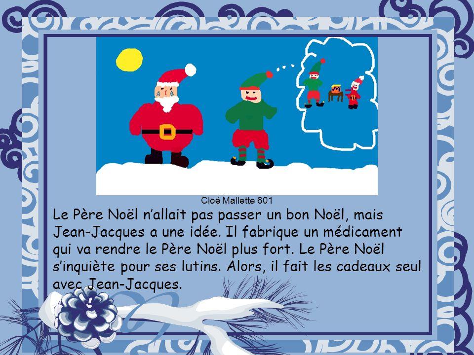 Le Père Noël nallait pas passer un bon Noël, mais Jean-Jacques a une idée. Il fabrique un médicament qui va rendre le Père Noël plus fort. Le Père Noë