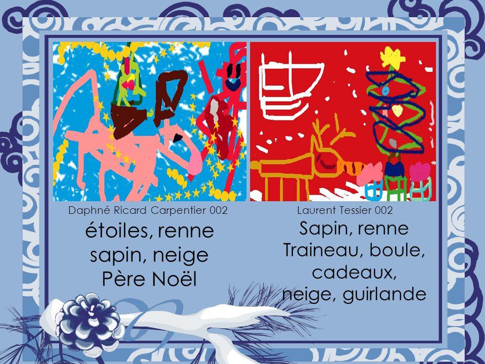 étoiles, renne sapin, neige Père Noël Sapin, renne Traineau, boule, cadeaux, neige, guirlande Daphné Ricard Carpentier 002Laurent Tessier 002