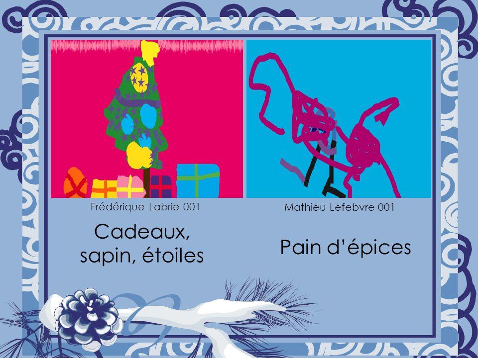 Cadeaux, sapin, étoiles Pain dépices Frédérique Labrie 001 Mathieu Lefebvre 001