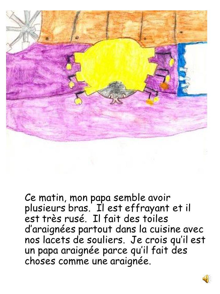 Papa est une araignée Julie et compagnie Classe de 2 e année Écrit et illustré par Ophélie Bonenfant