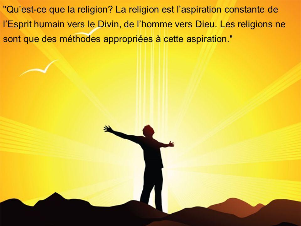 Quest-ce que la religion.