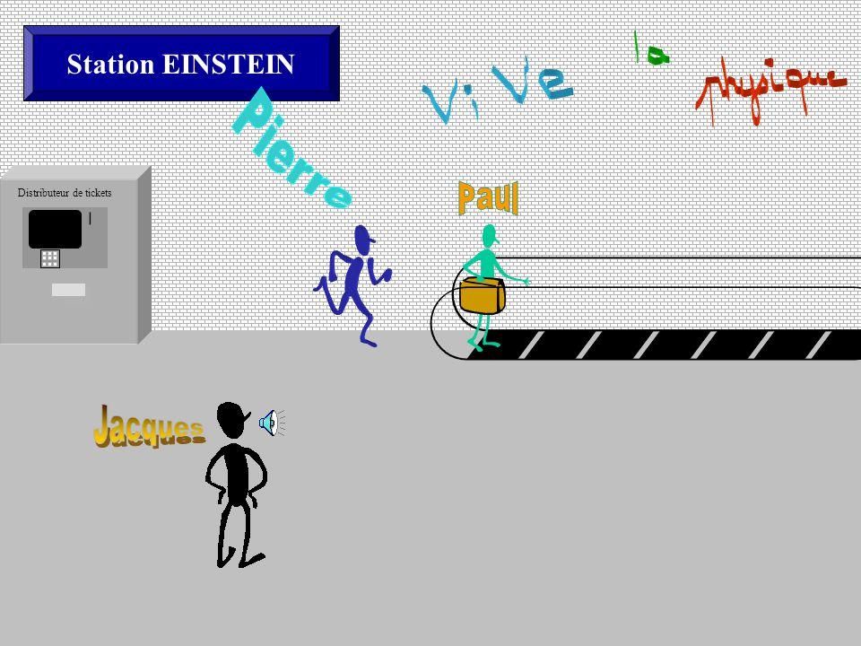 Station EINSTEIN Distributeur de tickets Le tapis roulant