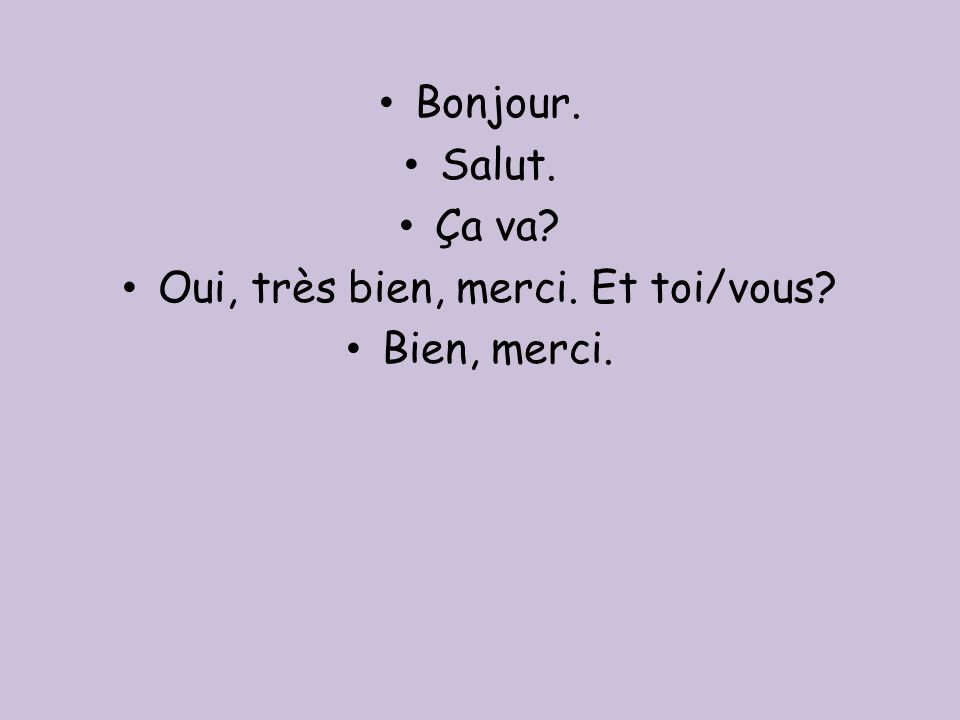 Je mappelle ____ = (lit.I call myself ______) My name is _____ Et vous.