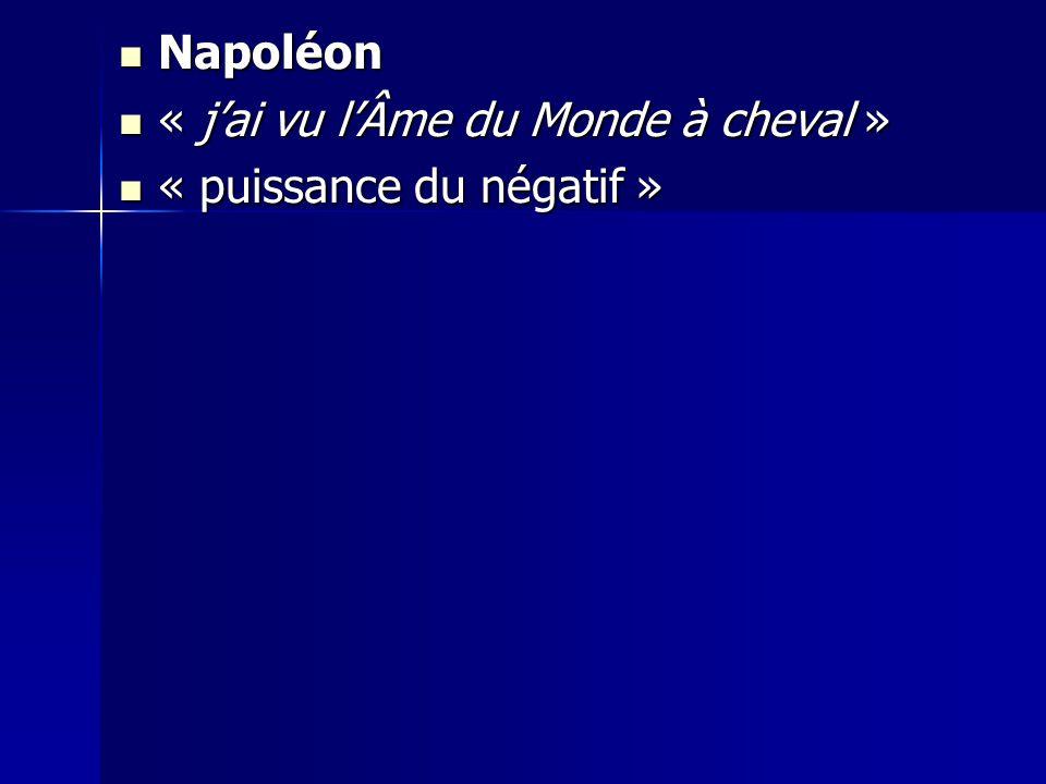 Napoléon Napoléon « jai vu lÂme du Monde à cheval » « jai vu lÂme du Monde à cheval » « puissance du négatif » « puissance du négatif »