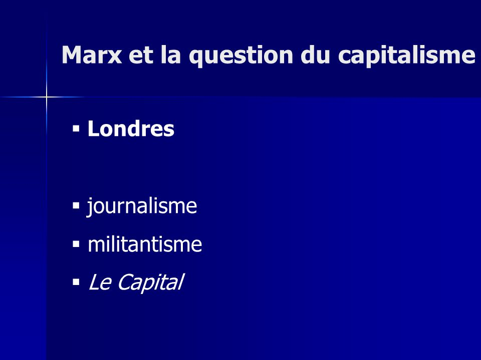 Londres journalisme militantisme Le Capital Marx et la question du capitalisme