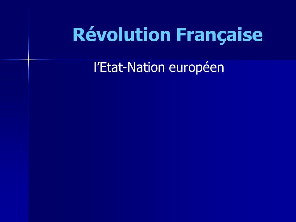 lEtat-Nation européen Révolution Française