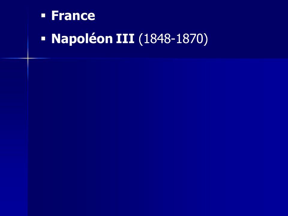 France Napoléon III (1848-1870)