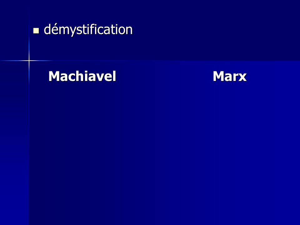 démystification démystification MachiavelMarx MachiavelMarx