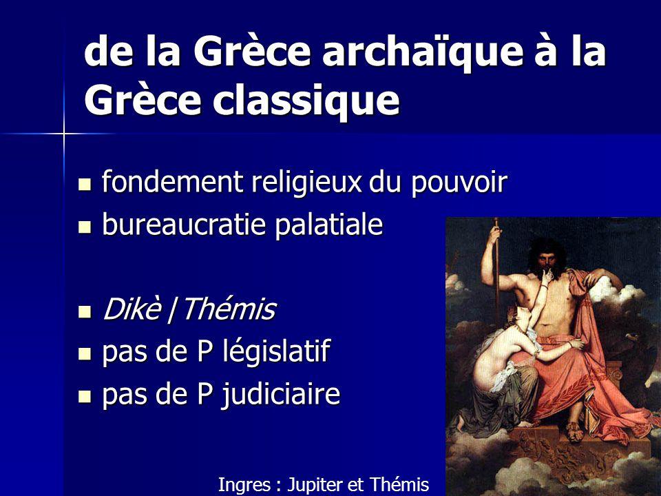 de la Grèce archaïque à la Grèce classique fondement religieux du pouvoir fondement religieux du pouvoir bureaucratie palatiale bureaucratie palatiale