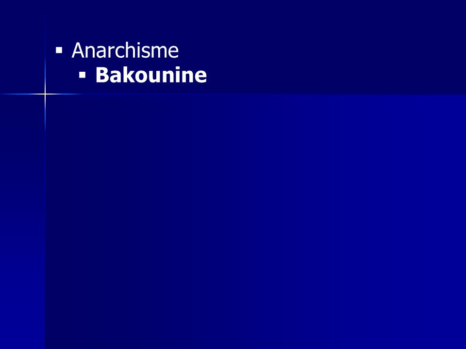 Anarchisme Bakounine