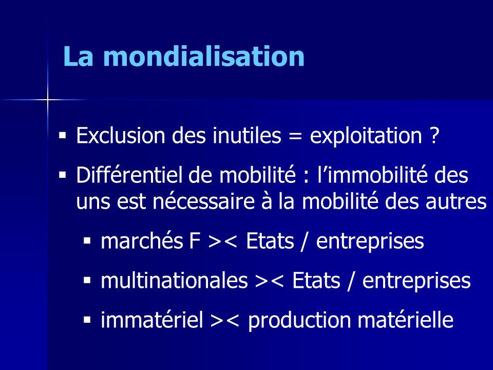 Exclusion des inutiles = exploitation .