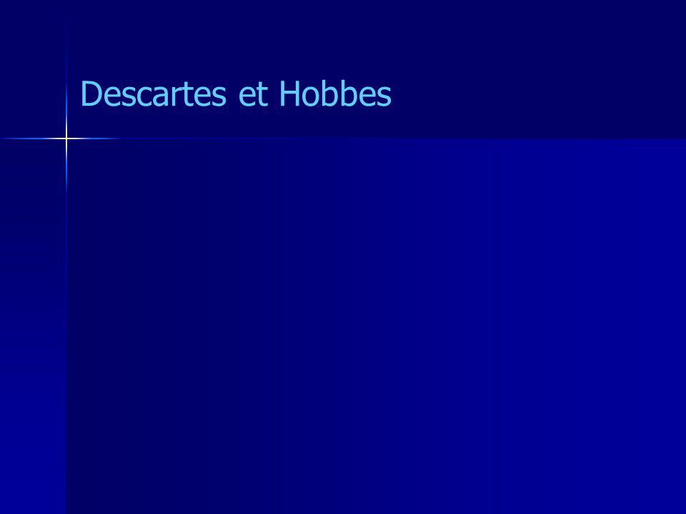 Descartes et Hobbes