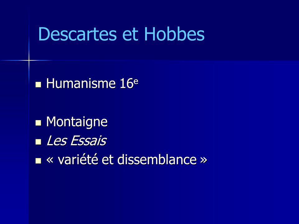 Humanisme 16 e Humanisme 16 e Montaigne Montaigne Les Essais Les Essais « variété et dissemblance » « variété et dissemblance »