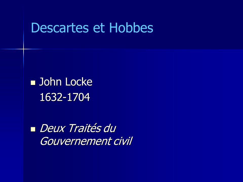 John Locke John Locke1632-1704 Deux Traités du Gouvernement civil Deux Traités du Gouvernement civil