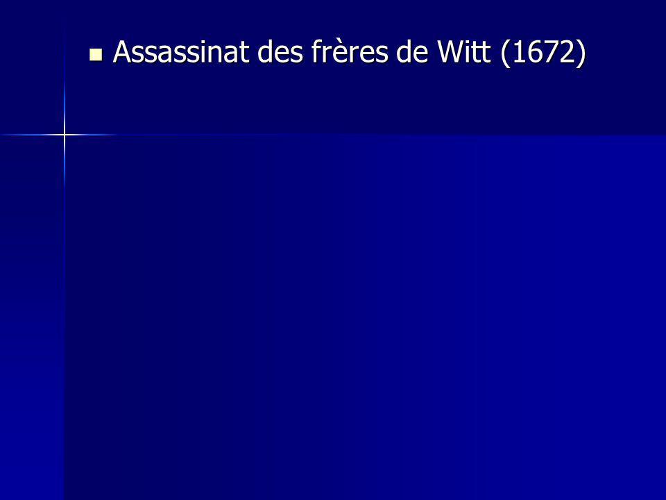 Assassinat des frères de Witt (1672) Assassinat des frères de Witt (1672)