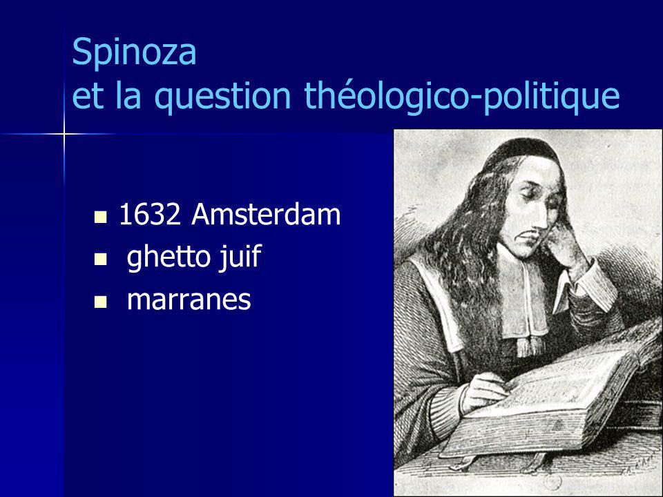 1632 Amsterdam ghetto juif marranes Spinoza et la question théologico-politique